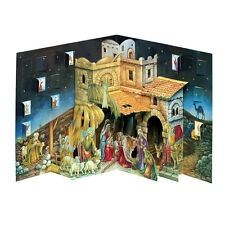 3-D Pop-up Nativity Advent Calendar - Traditional Christmas Wisemen Jesus Manger