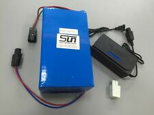 12V 60AH LiFePO4 Battery 6A Charger BMS Wind Solar UPS Back Up Recharge 9 Weeks