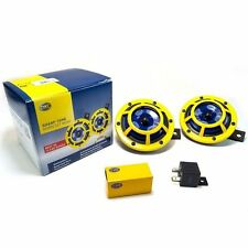 HELLA  SUPERTONE  PANTHER YELLOW DUAL HORN UNIVERSAL  FIT TO ALL CAR & BIKE,TRUK