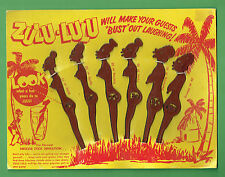 #T8.  SET OF ZULU LULU SWIZZLE STICKS ON CARD
