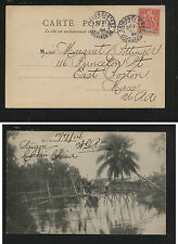 Indo  China   #9  on post card to  US  1904       KL0210