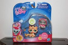 Littlest Pet Shop ~ ORANGE TIGER CAT & HOODIE GREY GRAY KITTEN 1607 1608 New lot