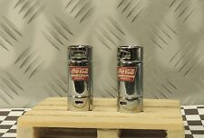 "(2) Coca-Cola Syrup Tanks"" Stainless Steel"" + Wood Pallet 1/24 (G)Scale Diorama"