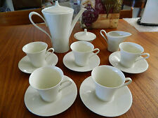 Rhenania W.Germany COFFEE TEA SERVING SET 15 Pc. Vintage white Bone China