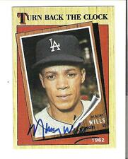Maury Wills AUTOGRAPH 1987 TOPPS CARD SIGNED