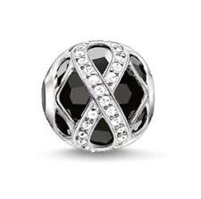 NUOVO Thomas Sabo argento sterling KARMA Infinity Onyx/Nero CZ PERLINE k0174 £ 90.00