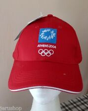 1 New Olympic Games Athens 2004 Rare Red Cap Hat Official Licensed Product W/tag