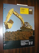 CAT Caterpillar 330B L EXCAVATOR SALES BROCHURE HYDRAULIC 1999 SPECS FEATURE 6DR