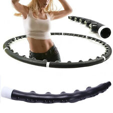 HOT Hula Hoop Professional Weighted Magnetic Fitness Exercise Massager Workout