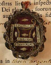 relic reliquiario S.PIETRO APO + 4 APO +DOCUMENTO1787 RELIQUIA shrine reliquary