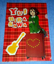 Made In Japan:K-ON,YUI HIRASAWA, Clear File Folder,Kawaii Desu,Anime,12 x 9""