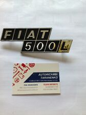 FIAT 500 L SCRITTA FIAT 500 L IN PLASTICA CROMATA FREGIO COFANO MOTORE POST