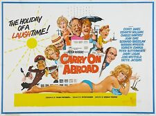"Carry on Abroad 1972 16"" x 12"" Reproduction Movie Poster Photograph"