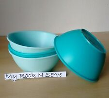 Tupperware Legacy Pinch Cereal Bowl Set 1 3/4 cup  Aqua/Mint New