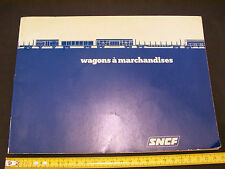 MANUALE ANNO 1979 DEI CARRI SNCF HO H0 1/87 PARIS FS TRENO TRENINO TRAIN