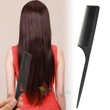 Salon Black Fine tooth Hairdressing Hair Style Carbon Antistatic Rat Tail Comb A