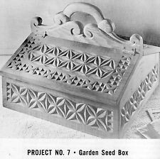 Vtg WOOD CARVING BOOK Instructions,Patterns MARRIAGE CHEST,BUTTER MOLDS,SEED BOX