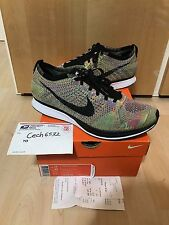 Nike Flyknits Racer Multicolor Size 11.5 Rainbow 2013 Fly Knit 526628-004 RARE
