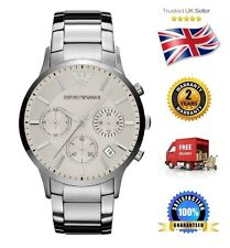 NEW Emporio Armani AR2458 Men's/Gents Stainless Steel Quartz Watch White Dial