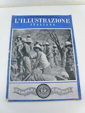 L'ILLUSTRAZIONE ITALIANA 1936 n 16 rivista vintage AOI Colonie