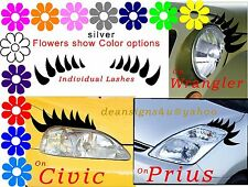 Individual Eyelashes for ANY car headlight truck mini van golf cart toyota honda
