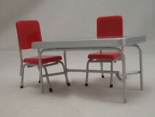 1950s Table & Chair Set T5935  dollhouse miniature furniture metal  1/12 Scale