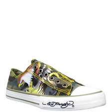 NEW ED HARDY CHAUD TIGER & EAGLE LOWRISE SLIP-ON SHOES SNEAKERS SIZE 7 SALE