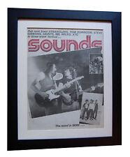 STATUS QUO+World+Sounds 1977+POSTER+AD+FRAMED+ORIGINAL+VINTAGE+FAST GLOBAL SHIP