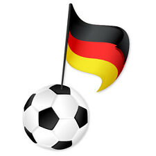 "GERMANY German Football team car bumper sticker 3"" x 5"""