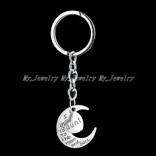 Keyring Key Ring Chain Gifts Party Women Men Hot Family Name Aunt  Moon Heart