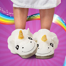 Cute Unicorn Plush Cotton Slippers Slip On Adult Size Indoor White Slippers