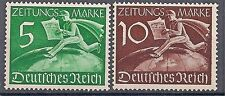 Nazi Germany Third Reich Mi# Z1-Z2 MH Newspaper Stamps 1939 *