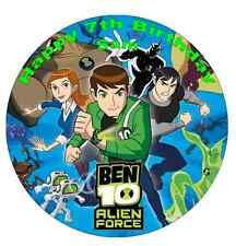 """Ben 10 Personalised Wafer Paper Topper For Large Cake Various Sizes 7.5"""""""
