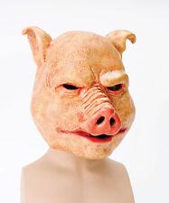 BM370 Horror Máscara Facial Completa Látex De Halloween De Cerdo Fancydress Accesorio sobrecarga