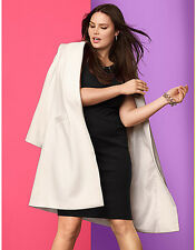 NEW LANE BRYANT PLUS SIZE IVORY GORGEOUS LONG CAR COAT SZ 14/16