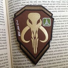 STAR WARS BOBA HUNTER EMBROIDERED TACTICAL AIRSOFT Hook&Loop VELCRO PATCH BADGE