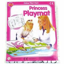 PRINCESS COLOUR IN PLAYMAT & CRAYON GIRL FUN XMAS GIFT CHRISTMAS STOCKING FILLER