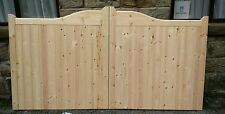 Swep-head wooden timber driveway gates 6'0''x7'0''( any size)