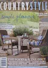 Country Style Magazine April 2010 - Food And Wine Issue 20% Bulk Discount