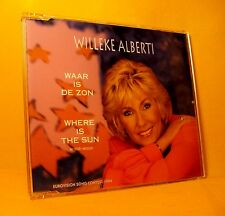 MAXI Single CD WILLEKE ALBERTI Waar Is De Zon 3TR 1994 pop ballad EUROSONG '94
