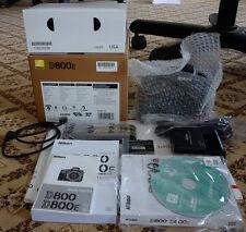 NIKON D800E 36MP DIGITAL CAMERA BODY IN BOX - MADE IN JAPAN - LOW SHUTTER COUNT