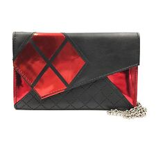 "New DC Comics Batman Harley Quinn Envelope 48"" Chain Wallet Purse"