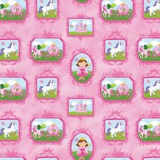 "Little Princess Blocks #41-21 Northcott Quilt Fabric 16"" remnant #RZ"