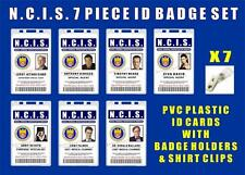 NCIS ID Badge / Card Prop Set - ALL 7 INCLUDED - PVC Plastic w/ 7 Badge Holders