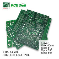 PCB Prototype 2 Layers FR4 Manufacturer Etching Fabrication Customized Service