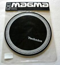 "SEALED - TECHNICS - TURNTABLE DJ SLIPMATS - PAIR ""STROBE"" DESIGN, SILVER ON BLA"