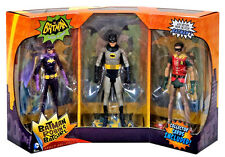 MATTEL classic TV BATMAN ADAM WEST, ROBIN & BATGIRL 6 inch action figure 3 PACK