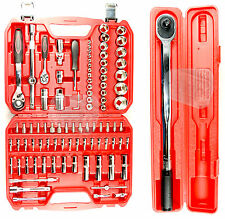 "94pc PRO QUALITY socket set  + 1/2"" torque wrench garage starter tool set GIFT"