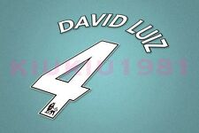Chelsea David Luiz #4 PREMIER LEAGUE 07-13 White Name/Number Set