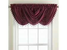 Chris Madden® Mystique Waterfall Valance With Beaded Trim In Dark Green